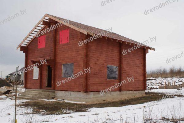 фотография фасада дома из профилированного бруса